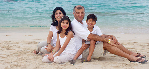 Dr. Dhutia with His Family